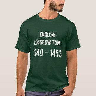 T-shirt anglais de visite d'arc