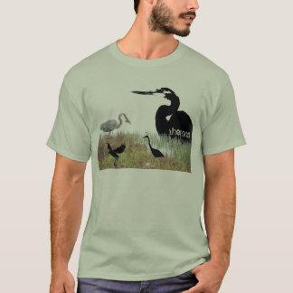 T-shirt Animaux de faune d'oiseau de héron de grand bleu