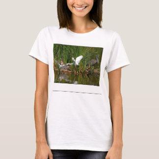 T-shirt Animaux de faune d'oiseaux de héron de grand bleu