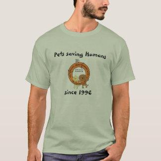 T-shirt Animaux familiers sauvant des humains, depuis 1996