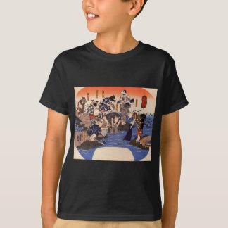 T-shirt Animaux teignant des tissus par Utagawa Kuniyoshi