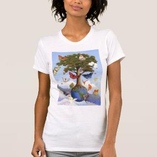 T-shirt Ann Howard de dames de papillon d'arbre de