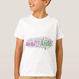 T-shirt Anne de nuage vert de mot de pignons