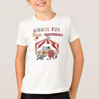 T-shirt Anniversaire d'amusement de cirque 3ème