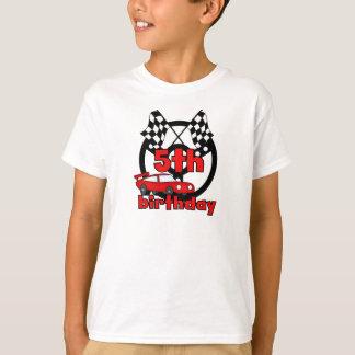 T-shirt Anniversaire de courses d'automobiles 5ème