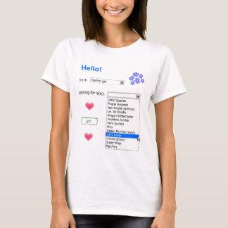 T-shirt Annonce personnelle de Gamer (1337)