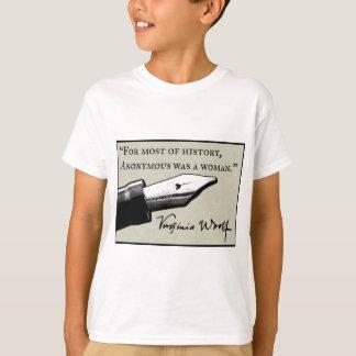 T-shirt Anonyme était une femme