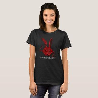 T-shirt anormal de lièvres - rouge foncé