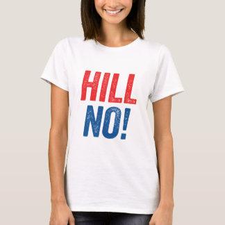 T-shirt Anti colline de Hillary non !