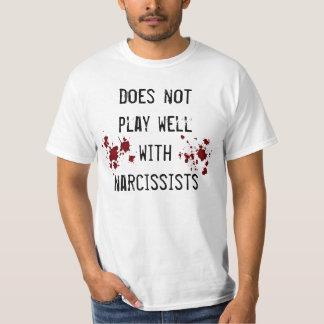 T-shirt Anti sentiment de narcissisme avec des