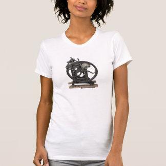 T-shirt antique de cou de scoop d'impression