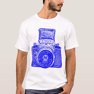 T-shirt Appareil-photo Allemand de l'Est géant - bleu
