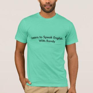 T-shirt Apprenez à parler anglais avec Randy