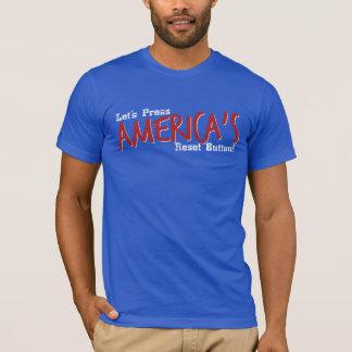 T-shirt Appuyons sur le bouton de réinitialisation de