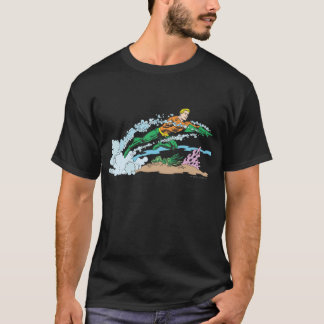 T-shirt Aquaman saute le corail