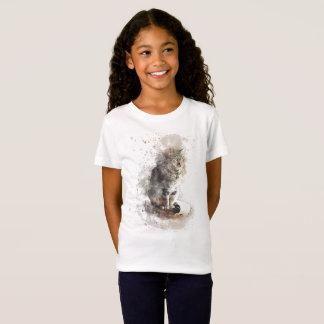 T-Shirt Aquarelle de chat tigré
