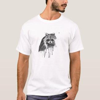 T-shirt aquarelle de raton laveur