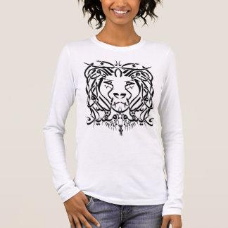T-shirt arabe de calligraphie de lion (avec dire)