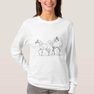 """T-shirt Arabe de cheval, """"deux amis """""""