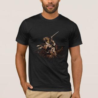 T-shirt Aragorn montant un collage de vecteur de cheval