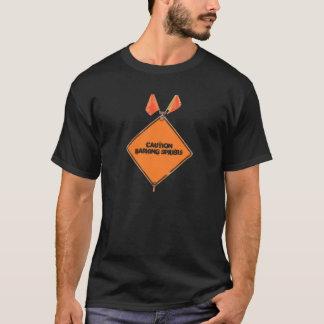 T-shirt Araignées d'écorcement de précaution