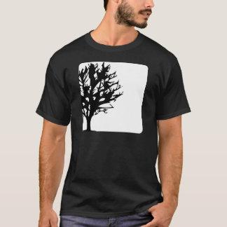 T-shirt arbre dans la boîte blanche/noir