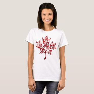 T-shirt Arbre d'érable de feuille d'érable