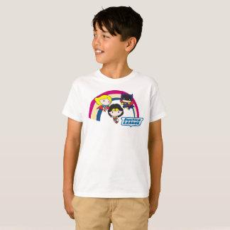T-shirt Arc-en-ciel de ligue de justice de Chibi