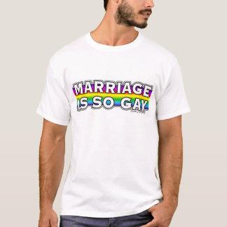 T-shirt Arc-en-ciel de mariage homosexuel