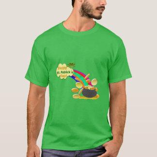 T-shirt Arc-en-ciel du jour de St Patrick heureux