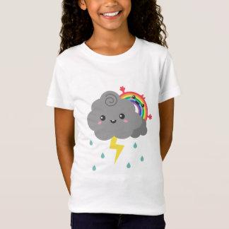 T-Shirt Arc-en-ciel mignon derrière chaque nuage foncé,