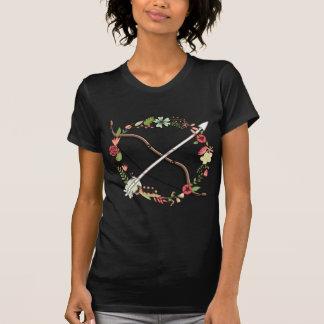T-shirt Arc et flèche féminins de tir à l'arc