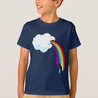 T-shirt Arcs-en-ciel vomissants de nuage