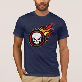 T-shirt ardent de crâne