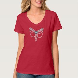 T-shirt Argent à chaînes de turquoise
