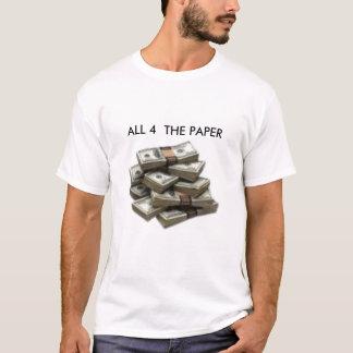 T-shirt argent, CHACUN DES 4 LE PAPIER