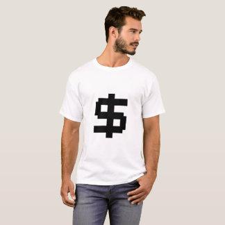 T-shirt Argent de 8 bits - T blanc