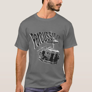 T-shirt Argent de percussion