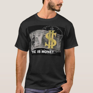 T-shirt argent, LE TEMPS, C'EST DE L'ARGENT