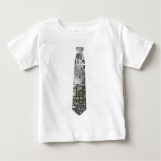 T-shirt argenté de cravate de faux de regard de