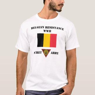 T-shirt Armée de secret de résistance de la Belgique