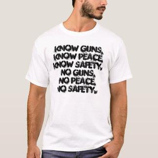 T-shirt armes à feu, paix, sécurité