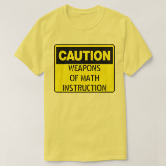 T-shirt Armes de l'instruction de maths
