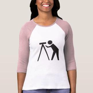 T-shirt Arpenteur de terre à la chemise de raglan de rose