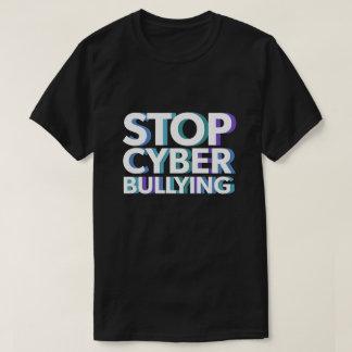 T-shirt Arrêtez la chemise de intimidation de Cyber