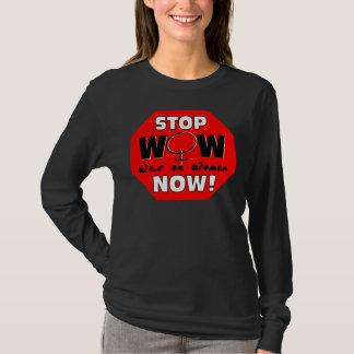 T-shirt Arrêtez la guerre sur des femmes