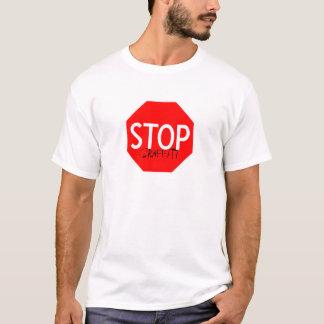 T-shirt arrêtez le graffiti
