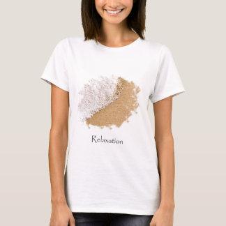 T-shirt Arrière - plan de relaxation de sable et de bulles