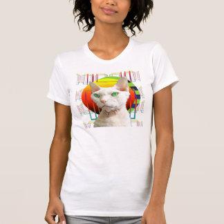 T-shirt Arrière - plan transparent de Casper de chat blanc