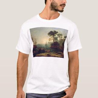 T-shirt Arrivée d'Aeneas en Italie, l'aube du